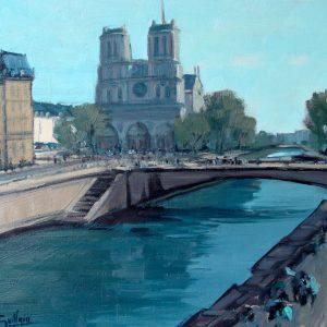 La Seine et Notre Dame, 60x60cm