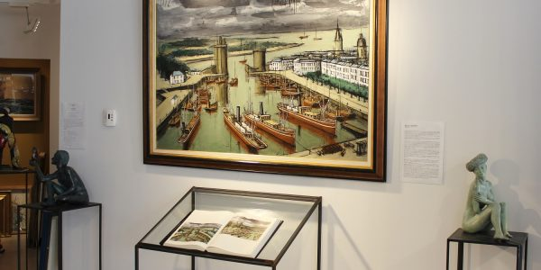 Bernard BUFFET-La Rochelle, Huile sur toile 89x130cm,1972