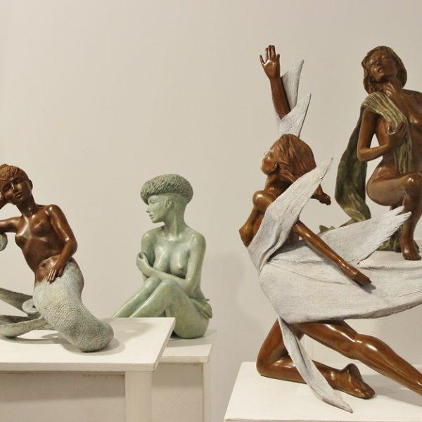 Exposition sculptures en bronze Margot Pitra, Galerie Winston Dinard