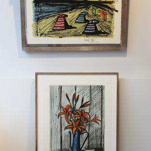 Exposition Bernard Buffet, Dinard, lithographies, gravures, peintures à l'huile, Bouquets, natures mortes