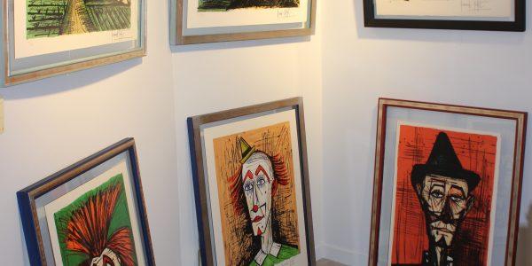 Exposition Bernard Buffet, Dinard, lithographies, gravures, peintures à l'huile, Clowns