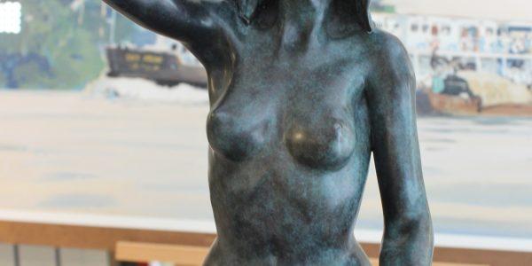 Margot PITRA, la pensée, sculpture en bronze