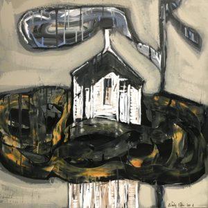 Nicolas VIAL, acrylique sur toile, 100x100cm