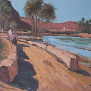 Guillain, Oued Tata, huile sur toile, 20F