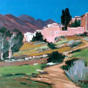 Guillain,  Village des Ammelns, huile sur toile, 10F