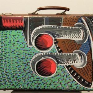 Nicolas VIAL, acrylique sur valise