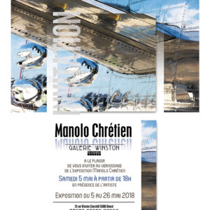 Exposition Manolo Chrétien du 5 au 26 mai 2018