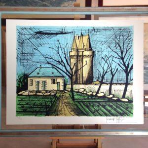 Bernard BUFFET, Saint-Servan, tour Solidor, 1985, 58x76cm