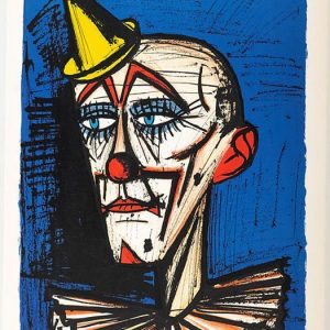 Clown au petit chapeau-lithographie