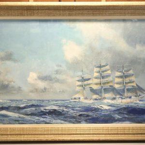 Albert BRENET, Gouache, 151x73cm