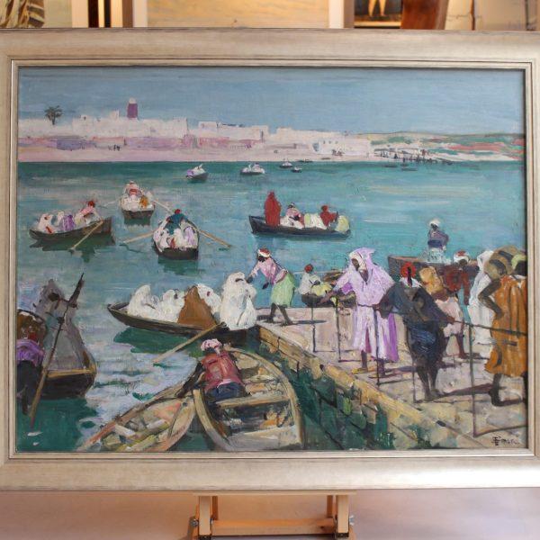 Lucien Simon, Vue du Maroc, huile sur toile signée en bas à droite, 73x96cm