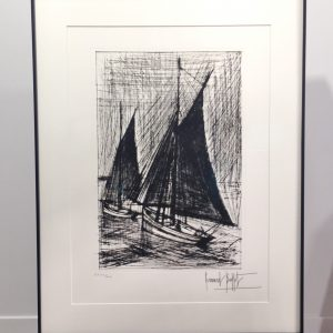 Bernard BUFFET, Gravure, les voiles noires, 1980