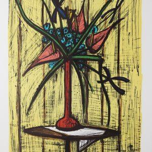 Bernard BUFFET, Anthuriums et Iris, 1981, 58*76cm