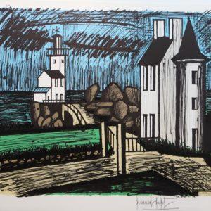 B. BUFFET, 419-Le phare de Granville,  lithographie XVIII-XXX, 1982, 58x76cm