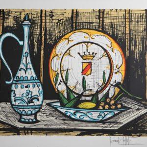 Bernard BUFFET-Les faiences,1988, lithographie 109-150, 58x76cm