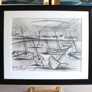 Bernard BUFFET, dessin au crayon, Marée Basse