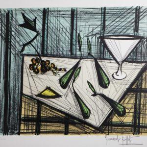 Bernard BUFFET-Nature morte aux poires,  1990, lithographie EA XXI-XXX, 58x76cm