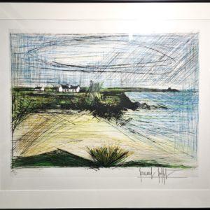B.BUFFET, Plage de la Mare, 1966, gravure n°78/100, 58x76cm