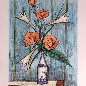 Bernard BUFFET, Roses et Lys, 1996, 9-150, 76x58cm