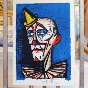 Bernard BUFFET-Clown au petit chapeau