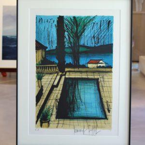 Bernard BUFFET, La piscine de la Maison, Album St Tropez,1979