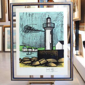 Bernard BUFFET, le phare de Guilvinec, lithographie n° EA XVIII-XXX, 1983