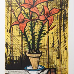 Bernard BUFFET, Liliums,1987,lithographie105-150