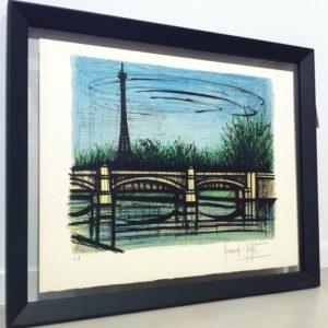 Bernard Buffet-Lithographie le Pont de Grenelle, EA