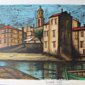 Lithographie Bernard BUFFET-Saint-Tropez
