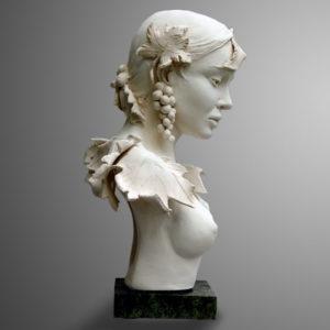 Margot PITRA, Automnale, Terre de création, PU, hauteur : 32cm