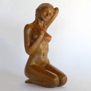 Margot PITRA, Douce, bronze n°4/8, hauteur 29cm