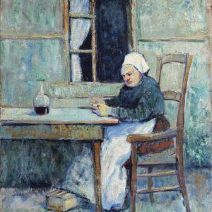 Pierre de Belay, La Bretonne, huile sur toile, 61x50cm