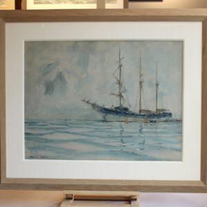 Marin-Marie, Trois-Mâts, aquarelle, 47x62cm