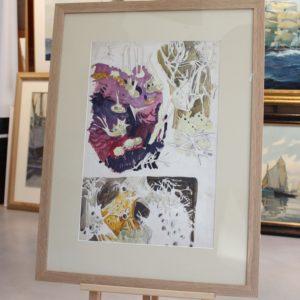 Mathruin MEHEUT, étude de fonds marins, aquarelle, 47x31cm