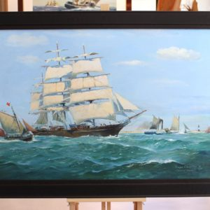Roger CHAPELET, Cutty Sark, huile sur toile, 71x103cm