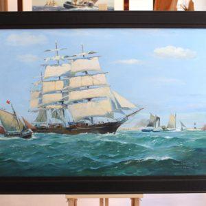 Roger CHAPELET, Cutty Sark, huile sur toile, 59x91cm