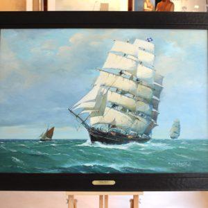 Roger CHAPELET, Cutty Sark, huile sur toile, 96x70cm