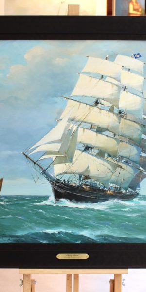 Roger CHAPELET, Cutty Sark, huile sur toile