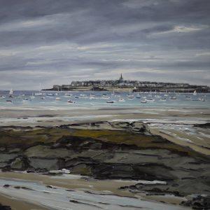William HIMO, Saint-Malo, huile sur toile