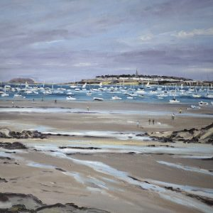 William HIMO, Saint-Malo, hst, 25F, 81x65cm