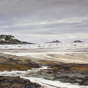 William Himo, Dinard, huile sur toile, 92x73cm