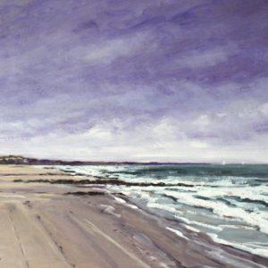 William Himo, La Normandie, huile sur toile, 50x65cm
