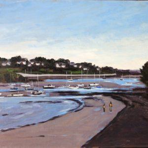 William Himo, Le petit port de Saint-Briac, huile sur toile, 50x65cm
