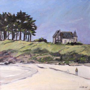 William Himo, Saint-Briac, huile sur toile, 50x50cm