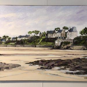William Himo, Saint-Enogat, huile sur toile, 92x73cm