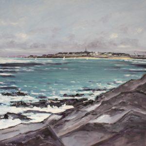 William Himo, Saint-Malo 2, huile sur toile, 80x80cm