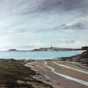 William Himo, Saint-Malo, huile sur toile, 80x80cm
