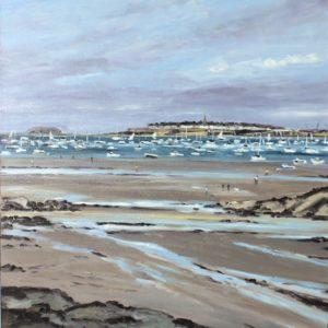 William Himo, Saint-Malo, huile sur toile, 81x65cm
