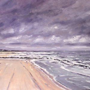 William Himo, Tempête à Cabourg, huile sur toile, 130x89cm
