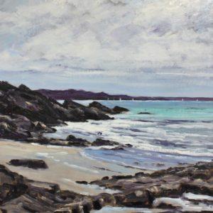 William Himo, Vers Saint-Jacut, huile sur toile, 50x65cm